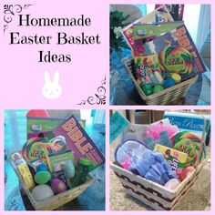 Homemade Easter Basket Ideas from pinchthisstretchthat.com @ginahorne #Easter #finishedfriday