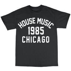House Music Chicago 1985 T-Shirt 100% Cotton Frankie Knuckles Larry Levan | eBay