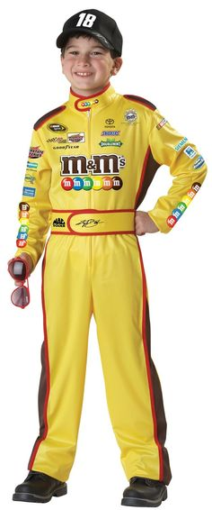 NASCAR Kyle Busch Child Costume - The Nascar Kyle Busch Child Costume includes a jumpsuit, cap, and sunglasses. Does not include shoes. This is an officially licensed NASCAR costume.