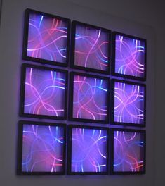 Fiber Optic and LEDs - a Wall Decoration : 6 Steps (with Pictures) - Instructables Fiber Optic Cable, Lead Type, Led, Light Decorations, Montage, Light Up, Wall Decor, Neon Signs, Cyberpunk