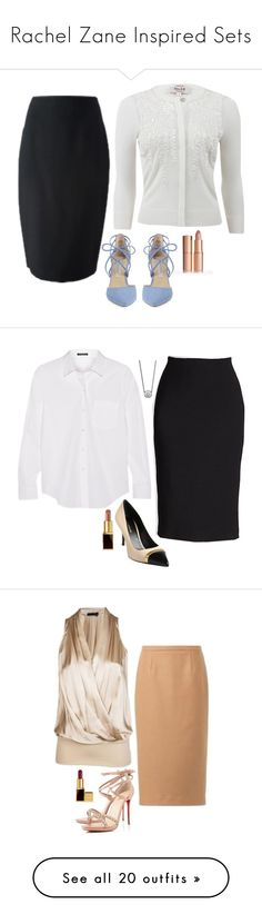 """Rachel Zane Inspired Sets"" by daniellakresovic ❤ liked on Polyvore featuring Kristin Cavallari, Tom Ford, Christian Louboutin, Marc, Gianvito Rossi, Burberry, Jimmy Choo, BaubleBar, Dsquared2 and Clarins"