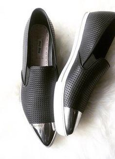Miu Miu Schuhe, Slip On, Sneakers, Shoes, Fashion, Trainers, Moda, Zapatos, Shoes Outlet