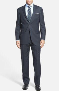 Men's Big & Tall Hart Schaffner Marx Classic Fit Stripe Suit