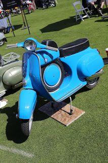 VESPA SCROLL CAFE RACER Blue /& Green SCOOTER STICKER