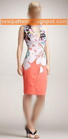 باترون مفصل لفستان ضيق - Sew Pattern