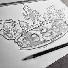 Needs some work! #sketch #king #crown #art #absorb81 #new #illustration