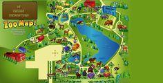 ik heb een plattegrond van een dierentuin om een beetje te kunnen laten zien wat ik ga maken, een overzicht.
