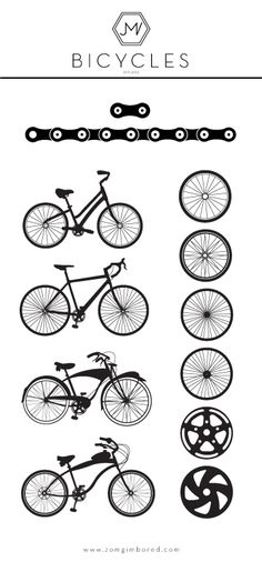 Bicycle Vector Pack, Free Download   Download: http://zomgimbored.com/2012/01/05/bicycle-vector-pack-free-download/