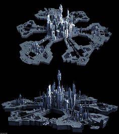 Stargate Atlantis City Textured by Coldilian on DeviantArt Stargate Atlantis, Stargate Ships, Spaceship Art, Spaceship Design, Science Fiction, Sci Fi City, Starship Concept, Space Fantasy, Sci Fi Ships