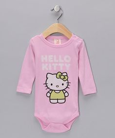 Take a look at this Pink 'Hello Kitty' Organic Bodysuit - Infant by Hello Kitty Collection on today! Hello Kitty Baby Shower, Pink Hello Kitty, Hello Kitty Collection, Baby Dress, Children, Kids, Infant, Girl Outfits, Bodysuit