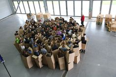 Exercice sur l'espace point, ligne et plan aux  Grands Ateliers d'après l'ouvrage de Kandinsky en sept. 2013