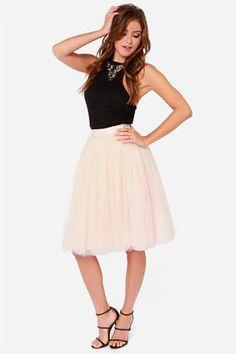 Peach Skirt - Tulle Skirt - Ballerina Skirt - $65.00