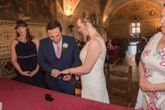 with this ring - Anthony says his vows to Joanne at Palazzo dei Priori