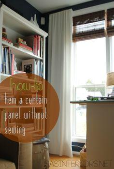 DIY: Tutorial on how to hem a window curtain panel by @Jenna_Burger, sasinteriors.net