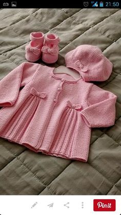 Baby Knitting Patterns Ravelry: Pleats and Bows pattern by Sublime Yarns Baby Knitting Patterns, Knitting For Kids, Baby Patterns, Free Knitting, Baby Cardigan Knitting Pattern Free, Knitting Wool, Knit Baby Sweaters, Knitted Baby Clothes, Baby Knits