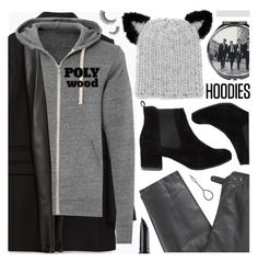 """Winter Layering: Hot Hoodies"" by pastelneon ❤ liked on Polyvore featuring Zara, Polywood, Lafayette 148 New York, Disaster Designs, Eugenia Kim, Benefit, women's clothing, women's fashion, women and female"