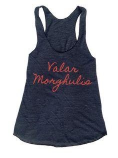 Game of Thrones -- Valar Morghulis (All Men Must Die) Woman's Racerback workout tank American Apparel