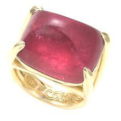 Cabochon Pink Tourmaline 'Swing Ring'   1stdibs.com