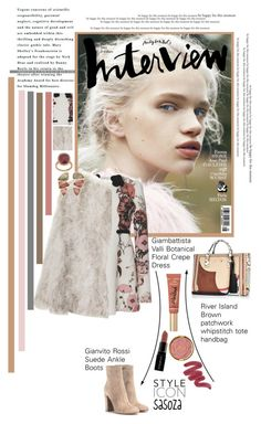 """winter look by Sasoza"" by sasooza ❤ liked on Polyvore featuring Giambattista Valli, Gianvito Rossi, River Island, Topshop, Too Faced Cosmetics, Smashbox, Milani, BROOKE GREGSON and Kimberly McDonald"