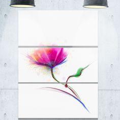 Isolated Purple Poppy Flower - Flower Metal Wall Art - 36Wx28H