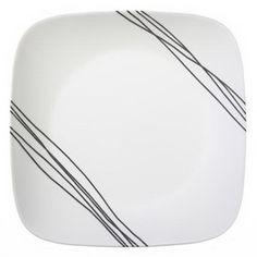 "CORELLE 1088184 Square Simple Sketch 10 1/4"" Dinner Plate"