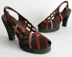 Vintage Fashion: Artifacts From Years Gone By - Popular Vintage 1940s Shoes, Vintage Shoes, Vintage Accessories, Fashion Accessories, Peep Toe Shoes, Sock Shoes, Shoe Boots, Shoes Heels, 1940s Outfits