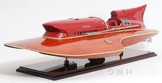 "CaptJimsCargo - Arno Ferrari Hydroplane Wooden Power Speed Boat Model 32"",  (http://www.captjimscargo.com/model-runabouts-speed-boats/arno-ferrari-hydroplane-wooden-power-speed-boat-model-32/) A larger RC version of this model is available."