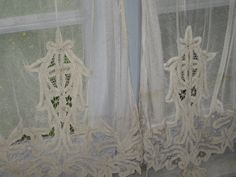 Antique French lace curtains ...
