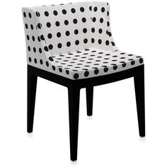 Kartell Mademoiselle Black Chair - White Pattern (865 CAD) ❤ liked on Polyvore featuring home, furniture, chairs, accent chairs, white armchair, contemporary accent chairs, white chair, pattern accent chairs and white contemporary chair