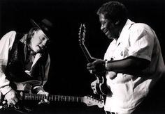 Stevie Ray Vaughan and B.B. in 1990