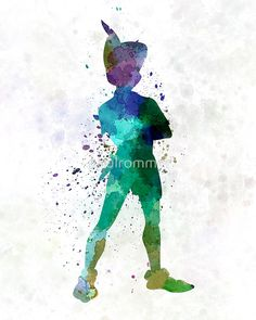 Peter Pan in watercolor by paulrommer