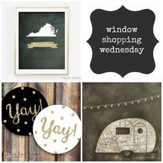 window shopping wednesday {7} a few of my favorite print shops on Etsy.