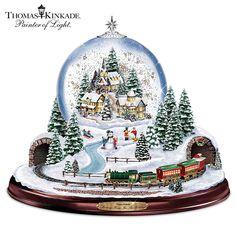 123681001 - Thomas Kinkade Village Snowglobe: Lights, Music a…