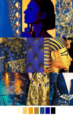 Egyptians always had sometime of blue and gold in anything they wore. Most likely whom ever was wearing these colors were royalty.
