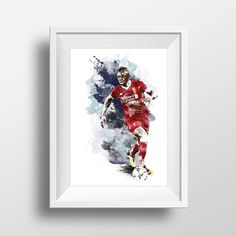Sadio Mane art poster print for Liverpool FC football fans by GraphicGaff on Etsy