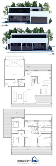 La maison moderne toit plat par Laurent Paolini Architecte - plan de maison rectangulaire plain pied