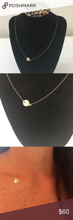 "Sideways Tiny Sand Dollar Necklace Sideways Tiny Sand Dollar Necklace, Everyday Necklace, Layering Necklace, Dainty, Minimalist, Simple Necklace, Simple Gold Necklace 14K Gold filled 18"" Jewelry Necklaces"