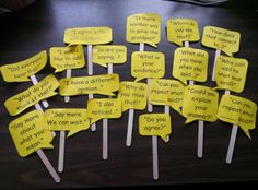 Accountable Talk Sticks. I used these with my students in small groups to teach accountable talk to my students. It facilitated engaging discussions and added rigor to lessons. It also made the classroom more student~centered instead of teacher-centered. Can be used for math or other subjects too.