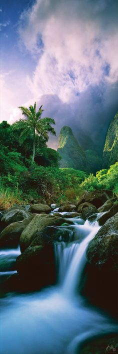"The peaceful ""Iao Valley"" available at Jeff Mitchum Galleries ~ Wailuku – Maui, Hawaii"