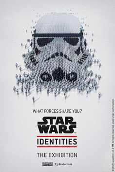 Great posters for an interactive exhibition and celebration of Star Wars.