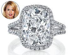 Neil Lane 10 carat cushion-cut diamond ring, aka Rachel Zoe's push present.  Why not?