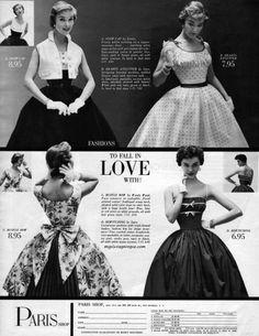 Paris Shop 1954 1950s Fashion Women 23f3c6bfa