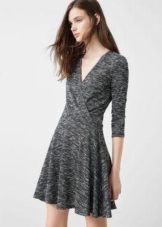 Платье с запáхом | MANGO МАНГО