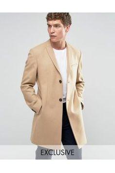 Noak Skinny Smart Overcoat - Tan #modasto #giyim #erkek https://modasto.com/noak/erkek/br58482ct59