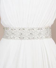Bali Sash | Kirsten Kuehn || handmade crystal bridal sashes