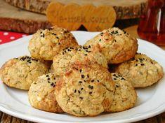 Unsuz Poğaça Tarifi Healthy Gluten Free Recipes, Healthy Desserts, Baby Food Recipes, Cookie Recipes, Tasty, Yummy Food, Keto, Bakery, Food And Drink