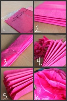Tissue Paper Pom Poms....I made a bunch of these for a Halloween party - so easy and fun