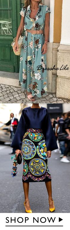 Buy 1 get off, Elegant Flower Printed Maxi Dress - Women's fashion 2020 Mode Chic, Chic Dress, Mode Outfits, African Dress, Pretty Dresses, African Fashion, Spring Outfits, Dresses Online, Buy 1