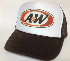 A W Rootbeer Trucker Hat mesh Hat Snap Back Hat brown. A w Root Beer a100d0c10930