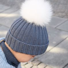 Ribbeluen - gratis oppskrift Knitting For Kids, Baby Knitting Patterns, Knitted Hats Kids, Baby Barn, Quick Knits, Kids And Parenting, Perfect Fit, Winter Hats, Beanie